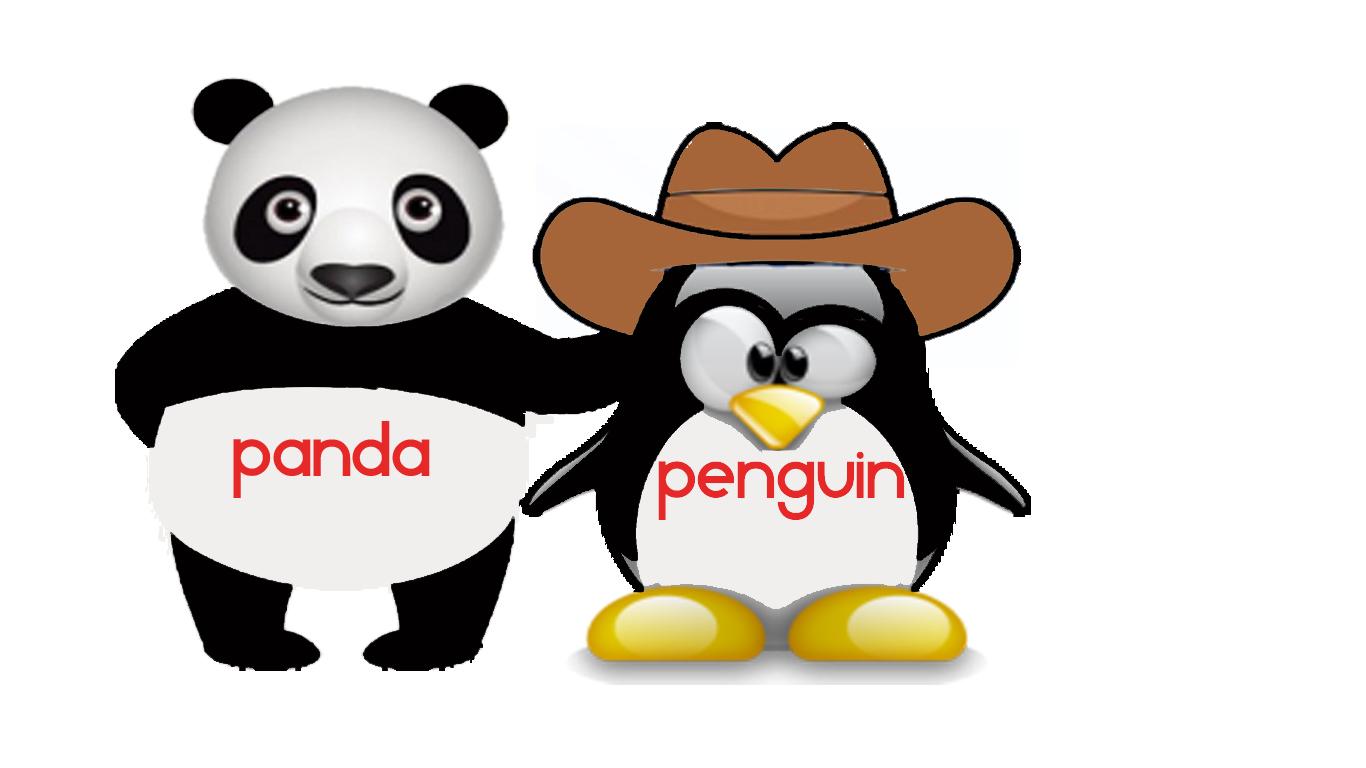 penguin and panda