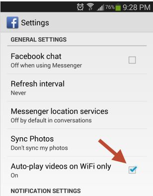 Disable Automatically Plays Videos Android Mobiles