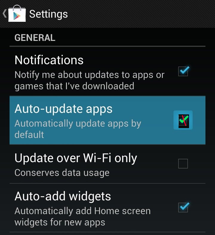Enable or Disable Auto Update Android Apps 2