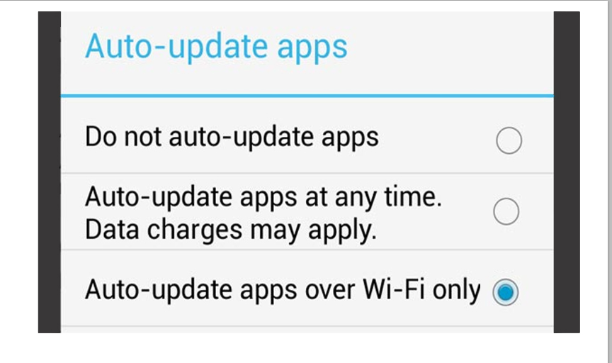 Enable or Disable Auto Update Android Apps 3