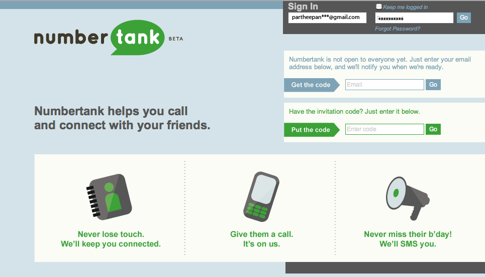 Numbertank: Make Free Mobile Call From Internet