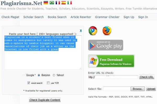 Plagiarisma net
