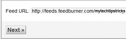 restore feedburner feed