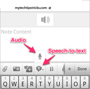 Evernote voice to text2