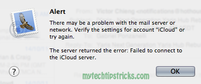 icloud mail send receive errors